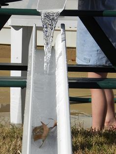 Water Play with Rain Gutters