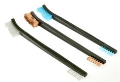 """~ 10 ~ WHITE NYLON 7/"""" TOOTHBRUSH WIRE BRUSHES DOUBLE SIDED PLASTIC HANDLE 7615NB"""