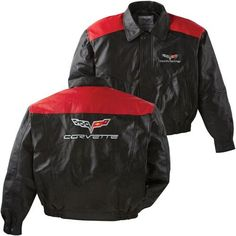 C6 Corvette Black and Red Lambskin Jacket