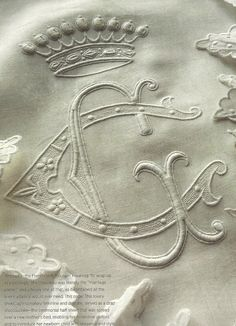 Elegant handwork....Splendid Sass: VICTORIA CLASSICS ~ MONOGRAMS