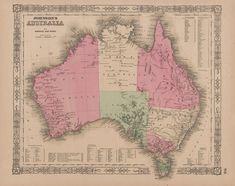 Best Australia Antique Maps Images On Pinterest - Antique maps for sale australia