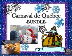 This Bundle of Activities for the Carnaval de Quebec will save you money and surely keep your students involved in their learning. The products below include an Internet search activity, an oral task cards activity, sight words for a word wall, and more! French Teaching Resources, Teaching French, Learning Resources, Teacher Resources, Teaching Ideas, Quebec Winter Carnival, Core French, Social Studies Activities, Vocabulary Games