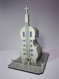 Violin Church in Fo Shan Free Building Paper Model Download