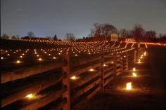 Annual Antietam National Battlefield Memorial Illumination in Sharpsburg, Maryland - 2013