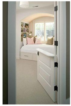 Dutch doors are wonderful!  Use them for the screened in porch, dog/laundry area, even the guest area.