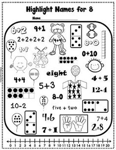 Practice Makes Perfect: Names for Numbers Worksheets by Bloomabilities Math Worksheets, Math Resources, Math Activities, Math Quizzes, Math Stations, Math Centers, Daily 3 Math, Eureka Math, Math Intervention
