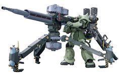 MS-06 量産型ザク + ビッグ・ガン (ガンダム サンダーボルト版) バンダイ (プラモデル)