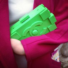 Spotted! The Chanel Lego clutch at #LFW