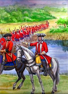 British forces at the Battle of Malplaquet, War of the Spanish Succession