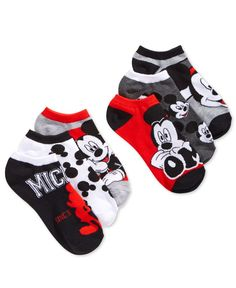Disney fans will adore this six-pack of women's ankle socks featuring assorted Mickey Mouse designs by Planet Sox. | Polyester/spandex | Machine washable | Imported | Contains 6 pairs | One size fits