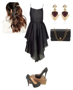 """Sem título #675"" by malu-880 ❤ liked on Polyvore featuring moda, Christian Louboutin, Chanel, White House Black Market e Suzywan DELUXE"