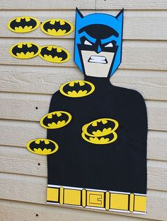 This DIY Pin the Symbol on Batman party game was created for a little boys birthday party. Batman Party Ideas