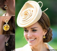 There was another new pair of earrings at the Garden Party in Northern Ireland. The design appears to be a customized version of Kiki McDonough's Eden Diamond Flower Drop Earrings, with citrines instead of the lemon quartz stones shown online. ©i-Images/Splash News/i_images/Splash News