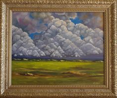 Cloudy Sky Painting, Original Oil Painting, Sky Painting, Landscape Painting by OksanaEnsary on Etsy https://www.etsy.com/uk/listing/292371929/cloudy-sky-painting-original-oil