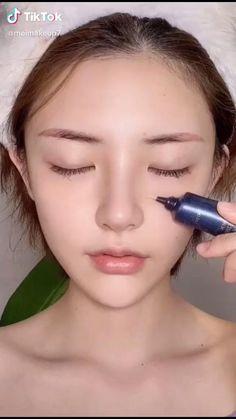 Asian Makeup Tips, Asian Makeup Tutorials, Korean Natural Makeup, Korean Eye Makeup, Clown Makeup, Makeup Art, Korean Wedding Makeup, Ulzzang Makeup Tutorial, Wedding Makeup Tutorial