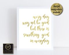 Gold Quote Real Gold Foil Print  Wall Art Gold Foil Print  Song Quote Print .