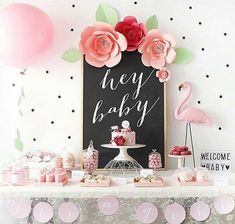 Hey baby! #flamingo fun all the way with this pretty baby shower. :@bodasdecuentoschool