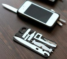"""""""This case turns your iPhone into a Swiss Army knife"""" - mom, if you see this, i think it has frye *all* over it. ;)"""