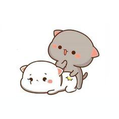 Chibi Cat, Cute Cartoon Wallpapers, Mocha, Grey And White, Hello Kitty, Milk, Snoopy, Cats, Animals