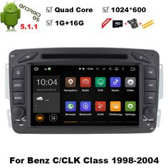 Quad Core 1024*600 Android 5.11 CAR DVD player FOR MERCEDES-BENZ CLK W209 M W163 W639 car audio stereo Multimedia GPS Head unit