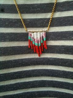 Chevron Necklace Tutorial