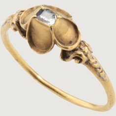 RENAISSANCE CUSPED DIAMOND RING. Western Europe, early 16th century. Gold and diamond.