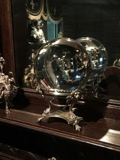 Amazing Clear Crystal Ball on Antique Paw Foot Lion Stand $495 http://www.gothicroseantiques.com/AmazingClearCrystalBallonAntiquePawFootLionStand.html