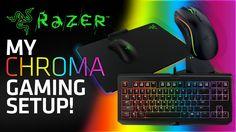 awesome My Razer Chroma Gaming Setup! (BlackWidow Tournament Edition, Mamba Wireless & Firefly Mouse Mat)