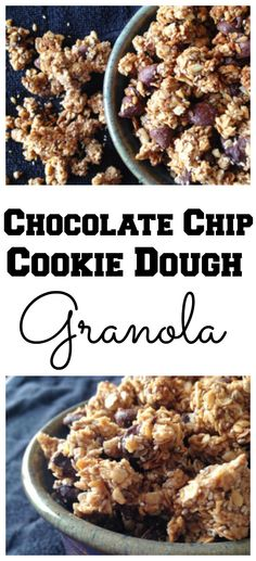Stop buying granola and make this #healthy Chocolate Chip Cookie Dough Granola! #vegan #breakfast