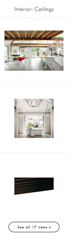 """Interior: Ceilings"" by jacci0528 ❤ liked on Polyvore featuring ceiling, rooms, empty rooms, home, backgrounds, house, architecture, lights, home decor and wooden home decor"