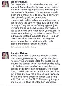The custom of men buying women drinks is nothing more than them wanting the women to lower their inhibitions. If you want to see how good a guy really is, ask for something nonalcoholic and see how he responds. If he gets upset, he's a shitbag.