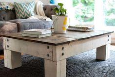 Barnwood coffee table by LouisandBuck on Etsy