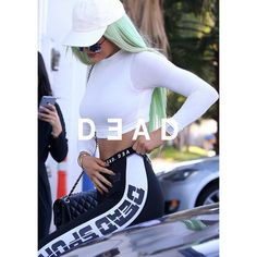 Dead Studios Designer SPORTS TRAINING Gym TIGHTS Kylie Jenner ($109) ❤ liked on Polyvore featuring activewear, activewear pants and sports activewear