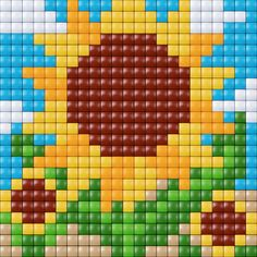 Flower cross stitch. Sunflowers cross stitch.