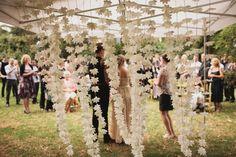 Paper flower backdrop so pretty!