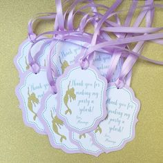 Little mermaid thank you tags by sprinkle_me_sequins