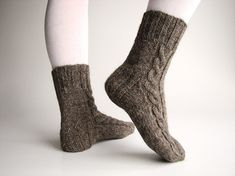 Cabled Hand-Knit Socks | 27 Rad Pairs Of Socks To Keep Your Feet Cozy
