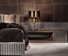 Gun metal grey bedroom combines many textures for simple elegance. See our traditional, chic structures at Risingbarn.com.