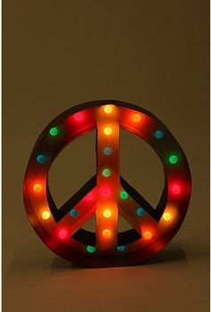 Peace Sign Marquee Light by Urban Outfitters