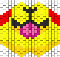 Pikachu Tongue Kandi Pattern
