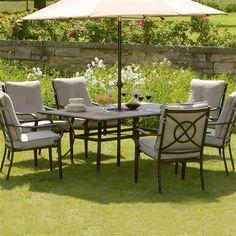 Devonshire Garden Belvedere 6 Seater Dining Set | ACHICA