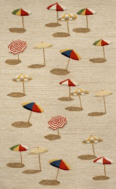Spello Beach Umbrella Natural Rug from the Studio Collection II collection at Modern Area Rugs