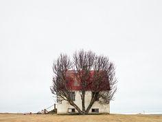 В течение четырех лет испанский фотограф Альваро Санчес-Монтаньес делал снимки в северных землях Исландии, вдохновляясь пустыми пространствами и минималистичной архитектурой. Так появилась серия фотографий Landnemar, завоевавшая Первый Приз от Aena Foundation в 2012 году.