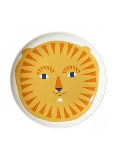 Lion Plate : Fawn Shoppe - Global Boutique For Unique Children's Designs