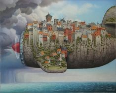 Children's Fantasy - by Jacek Yerka