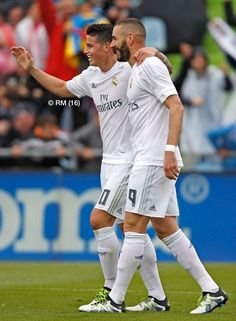 James and Benzema - Real Madrid