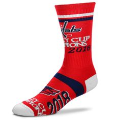 Washington Capitals For Bare Feet Women s 2018 NHL Stanley Cup Champions  Crew Socks 5c185e30d
