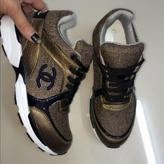 Chanel trainers  1000% authentic Love them but realized I can't wear sneakers at work but stylist gets discount ☺️ thinking about selling to the best offer also open to good trades brand new no box nor dustbag sorry will go lower on Ⓜ️! CHANEL Shoes Athletic Shoes