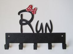 Run Mini Bow 5 Hook Medal Hanger, Medal Display That Holds 5- 15+ Medals