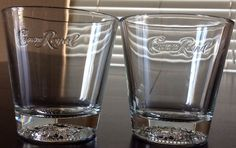 Crown Royal Set Of 2 Glasses Logo Embossed And Crown In Bottom